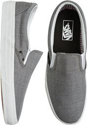 <ul> <li> Slip-on deck shoe with Vans' classic Off the Wall outsole </li>  <li> Durable canvas uppers</li>  <li> Padded collar and footbed for supreme comfort, fit, and superior shock absorption</li> <li> Cotton drill lining for excellent breathability and extra comfort</li> <li> Die-cut EVA insert for added support</li> <li> Vulcanized sole attachment</li>  <li> Gum rubber outsole with Vans' signature waffle tread</li>  </ul>