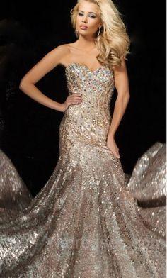 Embellished Sleeveless Champagne Long Sweetheart Natural Prom Dresses Sale ykdress11308