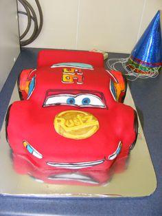 Caleb's lightning mcqeen cake