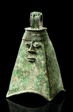 "Africa | Bell ""omo"" of the ""ogboni"" society from the Yoruba people of Nigeria 