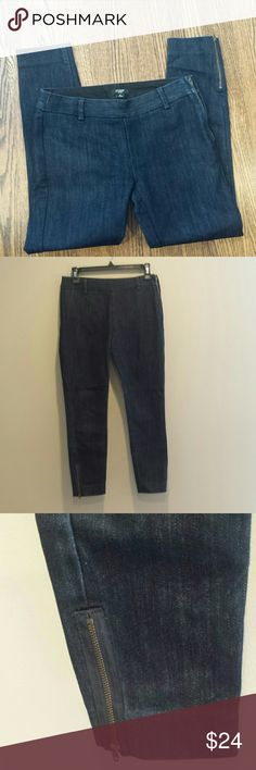 J. Crew jeans City fit jeans from J. Crew, dark wash, side zip, ankle length with zippers, these are great jeans that are in great condition. J. Crew Jeans Ankle & Cropped