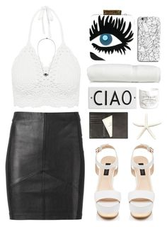 """""""Sem título #558"""" by andreiasilva07 ❤ liked on Polyvore featuring Pinko, Forever New, Rosanna, INDIE HAIR, Essentiel, H&M, Linum Home Textiles, lito and Tavecchi"""