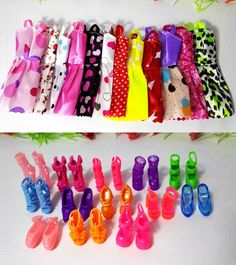 new 20 PCS/set Handmade Party 12 Clothes Fashion Mixed style Dress + 8 Pair Accessories Shoes for Barbie Doll Best Gift Girl Toy-in Dolls Accessories from Toys & Hobbies on Aliexpress.com | Alibaba Group