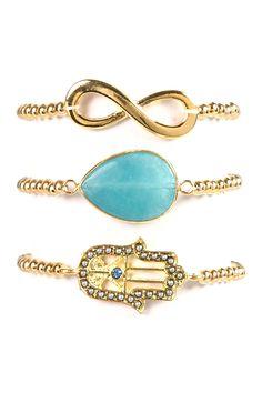 Eye Candy Los Angeles | Luck My Wrist Stretch Bracelet Set | HauteLook