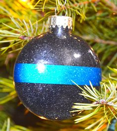 Thin Blue Line Ornament by HooahHoneyHomemade on Etsy