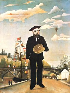 After decades as a customs inspector, Henri Rousseau picked up a brush and taught himself to paint. He submitted his work to the official Salon, but they rejected him for lack of skill. Rousseau refused to give up and became known for the exotic landscapes of his mind, for he never traveled outside of France.