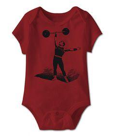 Loving this Garnet Strong Man Bodysuit - Infant on #zulily! #zulilyfinds