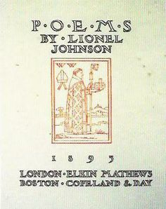 """Herbert Horne, title page for """"Poems"""" by Lionel Johnson, 1895."""