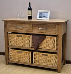 Opus Solid Oak, Basket Hall Table