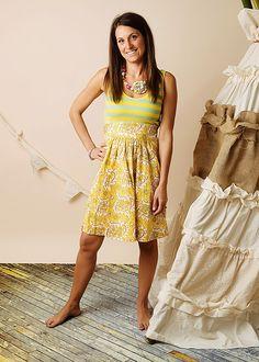 Mustard Pie Womens Adelaide Dress in Turquoise Lemonade