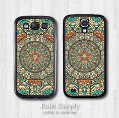 Samsung Galaxy S4 case, Galaxy S3 case - Eastern Mandala, Floral Round Pattern on Etsy, $8.99