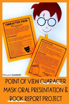 This project is perfect for teaching point of view during the month of Halloween or any time of year, and can also be used during distance learning. Students choose a favorite character from a story they have read. They produce a written book report, do an oral presentation where they speak from their character's point of view and create a character mask. This play-based learning activity is great for 1st-3rd grade. This literacy activity ties in writing and reading as well as a fun craft.