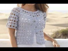 Nevertheless pattern by DROPS design Gilet Crochet, Crochet Cape, Crochet Jacket, Crochet Cardigan, Crochet Stitches, Knit Crochet, Crochet Designs, Crochet Patterns, Crochet Woman