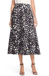 Trina Turk 'Charmer' Print Midi Skirt