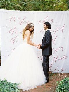 Romantic, Love Poetry, Styled Wedding Photoshoot - Ceremony,  Estate,  Calligraphy