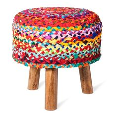 This Woven Tripod Accent Stool from Threshold has a boho, hippie-chic feel. The three-legged footrest is great for support next to a chair or as a seat in a child's bedroom or playroom.
