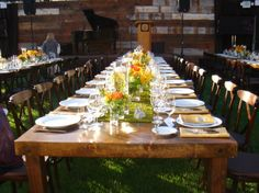 rustic and vibrant table set up