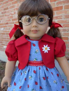 18 Doll Clothes Ladybug Dress for Spring Fits American Girl Molly, Emily, Kit, Ruthie via Etsy
