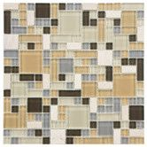 Found it at AllModern - Sierra Random Sized Glass and Natural Stone Mosaic Tile in Versailles River