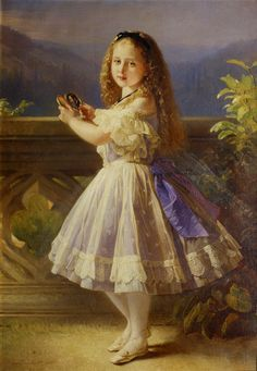 Richard Lauchert (1823-1869), 1863.Princess Beatrice Mary Victoria Feodore of the United Kingdom (14 April 1857, Buckingham Palace, London – 26 October 1944, Brantridge Park, Sussex), was the fifth daughter and youngest child of Queen Victoria and Prince Albert.