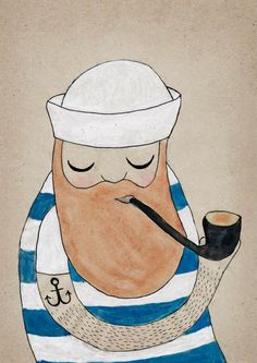 A smooth #sea never made for a successful #sailor (Michelle Carlslund #illustration)