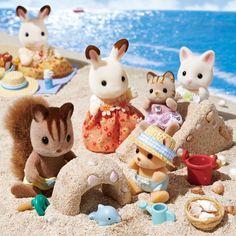 Sylvanian Families Día At The Seaside Juego Muñecas Y Accesorios Juguetes
