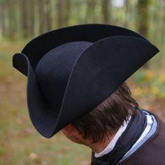 2344255636a Black Standard Wool Felt Civilian Tricorn TH-815
