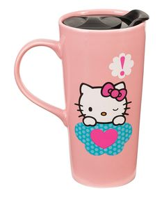 Look at this Hello Kitty Stars 20-Oz. Ceramic Travel Mug on #zulily today!