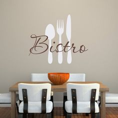 Bistro Wall Decal  Kitchen Decal by StephenEdwardGraphic
