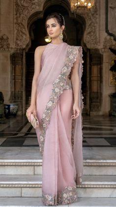 Memoirs of a Maharan Drape Sarees, Saree Draping Styles, Organza Saree, Saree Styles, Silk Organza, Organza Dress, Chiffon Saree, Indian Wedding Outfits, Indian Outfits
