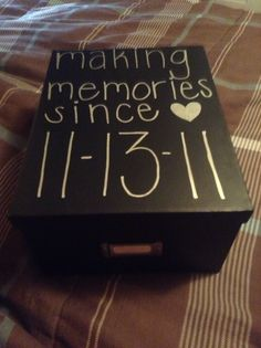 Memory box to hold special things. Like, cards, letters, etc.