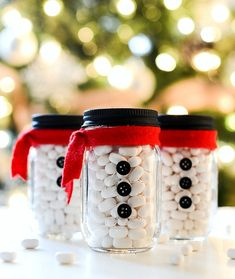 Snowman Mason Jar Stocking Stuffers
