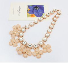FASHION DESIGNED CLOVER GEM NECKLACE