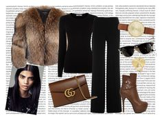 """#packandgo"" by ana-anny-blagojevic ❤ liked on Polyvore featuring Adrienne Landau, Oasis, Diane Von Furstenberg, Gucci, Skagen, Theo Fennell, Ray-Ban, women's clothing, women and female"