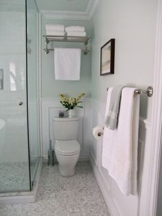 glass shower next to toilet