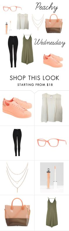 """Peach"" by elomila ❤ liked on Polyvore featuring adidas Originals, Chanel, Topshop, Versace, Winky Lux, Kartell and River Island"