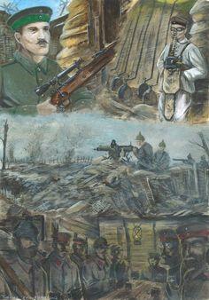 Western Front 1915 by tuomaskoivurinne on DeviantArt Military Diorama, Military Art, Military History, World Warfare, Ww1 Battles, Ww1 Art, Military Drawings, German Soldiers Ww2, War Comics