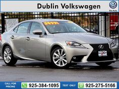 2015 Lexus IS 250 4D Sedan 11k miles Call for Price 11328 miles 925-384-1095 Transmission: Automatic  #Lexus #IS #used #cars #DublinVolkswagen #Dublin #CA #tapcars