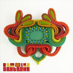 Soutache Pendant, Art Nouveau, Brooch, Hats, Shibori, Fashion, Soutache Jewelry, Moda, Hat