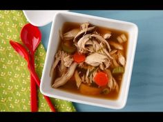 Asian Chicken Soup - Healthy Dinner Recipes - Weelicious - YouTube