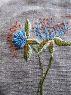 .embroidered flowers