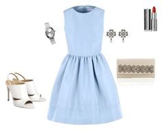 """""""White&blue."""" by iutta on Polyvore featuring RED Valentino, Gucci, Nixon and Givenchy"""