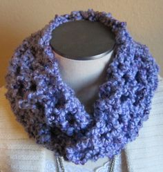 Crochet Cowl in Shades of Purple Extra Long by Kitkateden on Etsy, $22.00