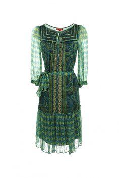 Delphinium dress green
