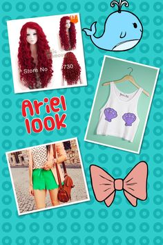 This look is ariel inspired. Obviously cx  My friend Sydney put it together and found each article of clothing @ Wanelo.com