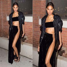 @cindybruna wearing #geuridelarosa to the @victoriassecret fashion show private screening  #cindybruna #victoriasecret #angel #victoriassecretfashionshow #black #velvet #fashion #style #lastnight #nyc #cindybruna Thank you! @martin_gregory