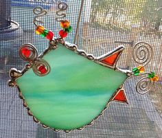 Stained Glass Holiday Fish by LBFGlass on Etsy, $20.00