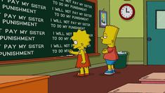 Here's every single thing Bart Simpson ever wrote on the ...