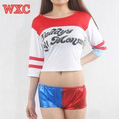 バットマンハーレークインパパのlilのシャツs-xxl衣装コスプレトップスティーwxc
