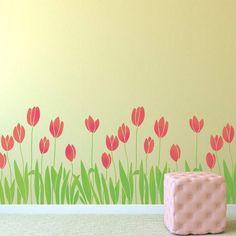 Cutting Edge Stencils - Spring Tulips Border Stencil